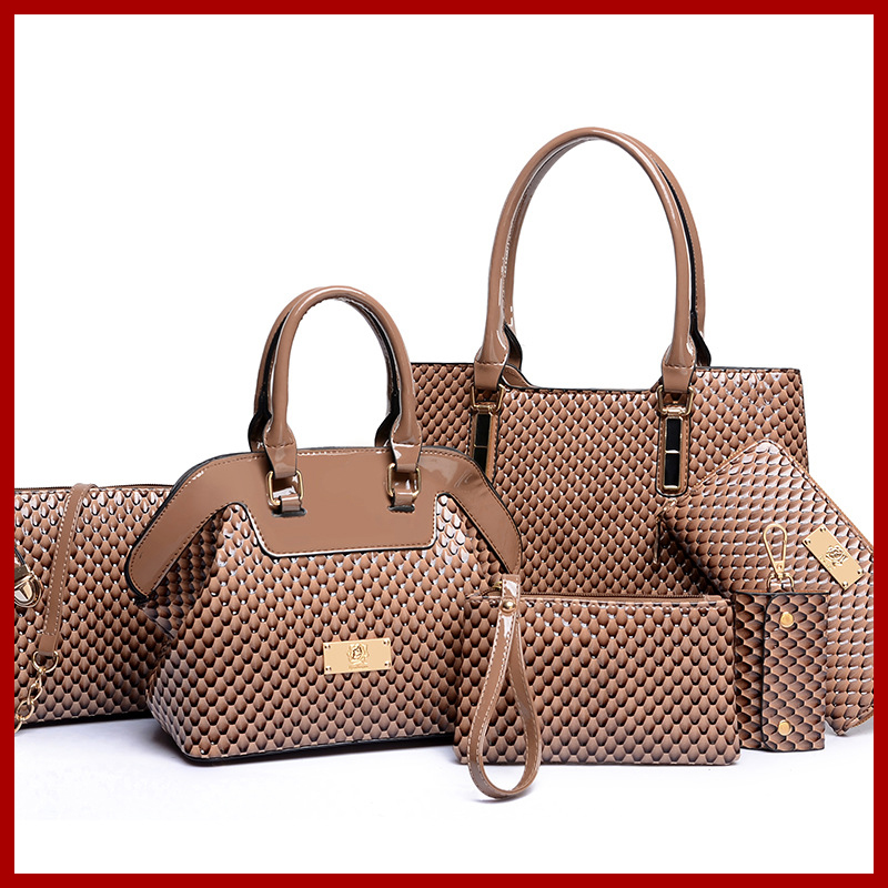 Fashion Casual Serpentine Handbag high quality Women Handbag Crossbody Bag Handbag+Messenger Bag+rse+Wallet 6 sets free shipping hjphoebag fashion crocodile handbag pu leather bag women handbags crossbody bag handbag messenger bag rse wallet 6 sets z 0077