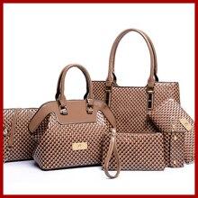 Mode Casual Serpentine sac à main de haute qualité femmes sac à main sac bandoulière sac à main + Messenger sac + rse + portefeuille 6 conjuntos livraison gratuite