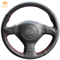 Mewant Black Artificial Leather Car Steering Wheel Cover For Subaru Forester 2004 2006 Legacy 2005 Impreza