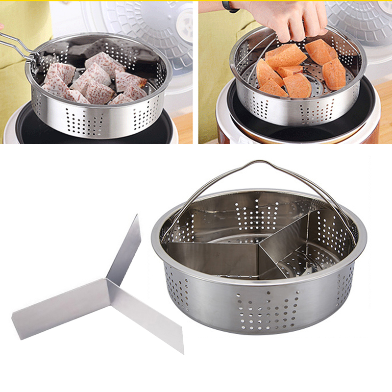 Steam Rack Steamer Basket Vegetables Stainless Steel Steamer Food Kitchen Dish Convenient Cookware Egg Cooking Tableware