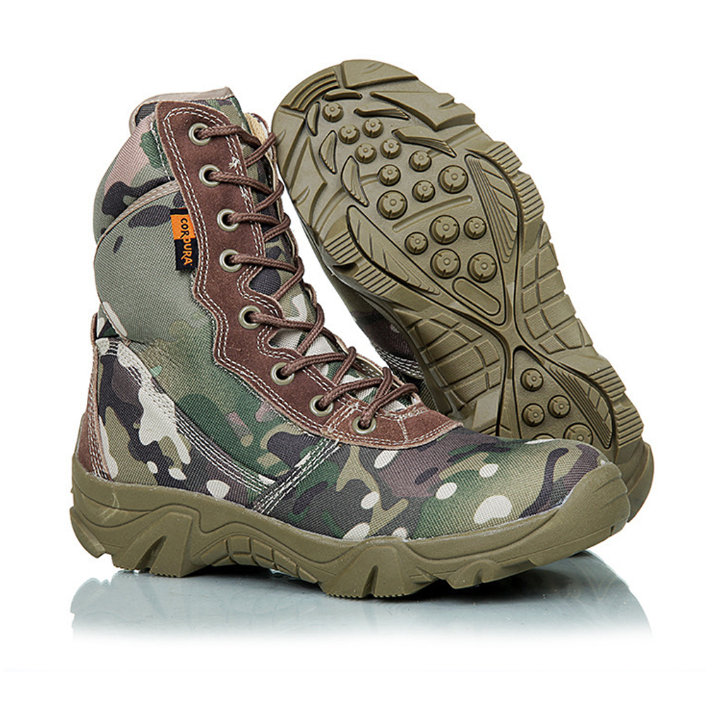 New US Army Boots Men Desert Shoes Warm Winter Snow Boots Camouflage Military Tactical Boot Men's Combat Ankle Boots