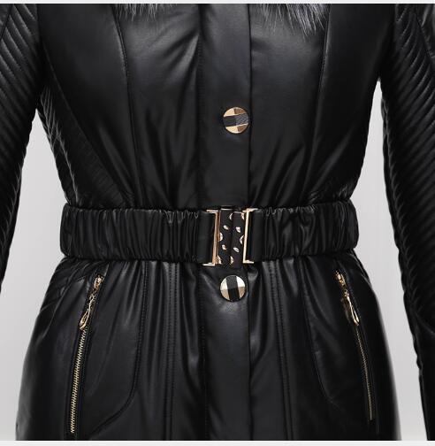 De Col À Nouvelle Longue Qualité Vers Grand Le Parka Slim Veste Chaud Capuche Fourrure Fit 2018 Neige Femme Mode Manteaux Section Haute Bas Manteau Femmes AUPXqXT