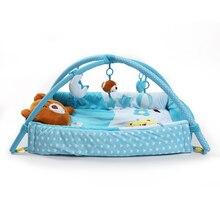 цена Children Real soft baby playpen Soft Baby Game Fence Crawl Guardrail Safe Hurdles with 5pcs Hanging Bells Gift Activity Gear онлайн в 2017 году