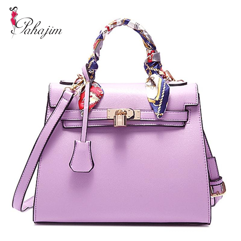 Aliexpress Brand Luxury Handbags Women Bags Designer Handbag With Scarf Lock Shoulder Messenger 2018 Fashion Pink Blue Tote Bag From Reliable