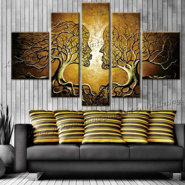 Handpainted wall art home decoration tree of life pictures for Art decoration pdf