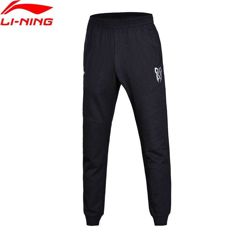 Li-Ning Для мужчин Баскетбол серии тренировочные штаны 100% хлопок Regular Fit подкладка комфорт Спортивные штаны akln013 mky350