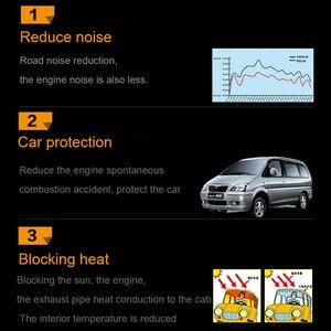 Шумоизоляция для автомобиля, 15 sqft, звукоизоляция автомобиля, автомобильные аксессуары, 140x100 см, огнеупорный экран двигателя, теплоизоляционный алюминиевый Foa