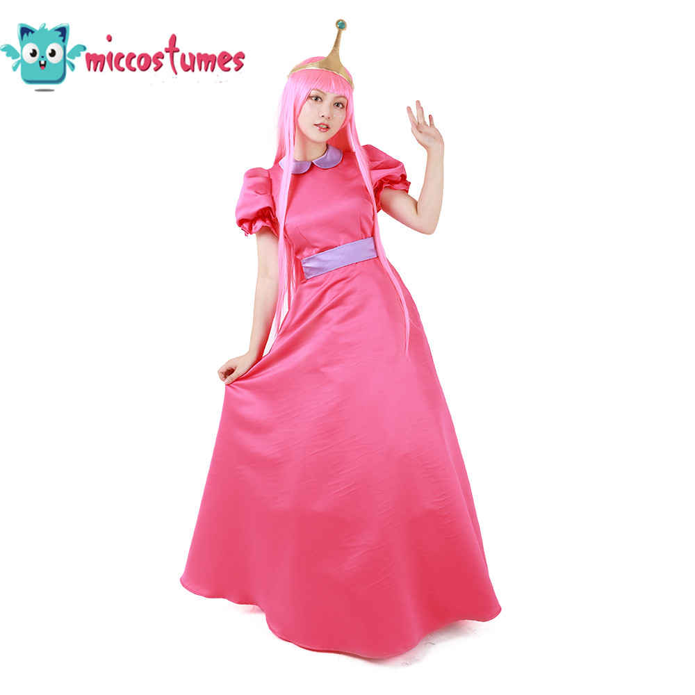 Princess Bonnibel Bubblegum Cosplay Costume With Crown