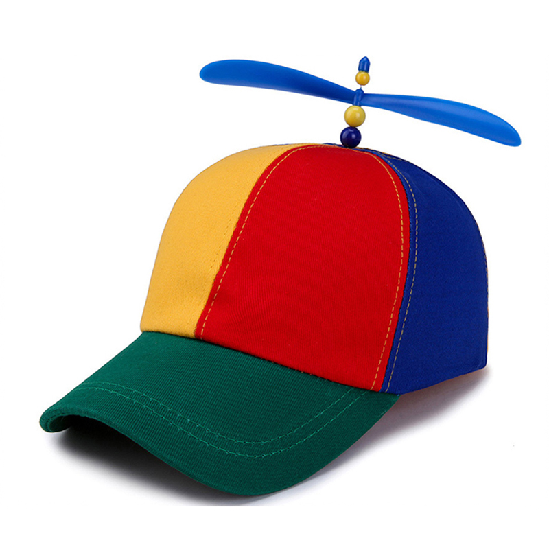 Summer Child Adult Adjustable Propeller Ball   Baseball     Cap   Dragonfly Top Multi-Color Patchwork Funny Lovely Boys Girls Snapback D