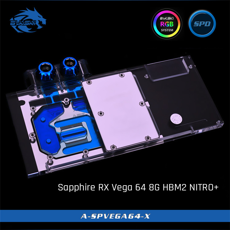Bykski A SPVEGA64 X Full Cover Graphics Card Water Cooling Block for Non Founder Edition Sapphire