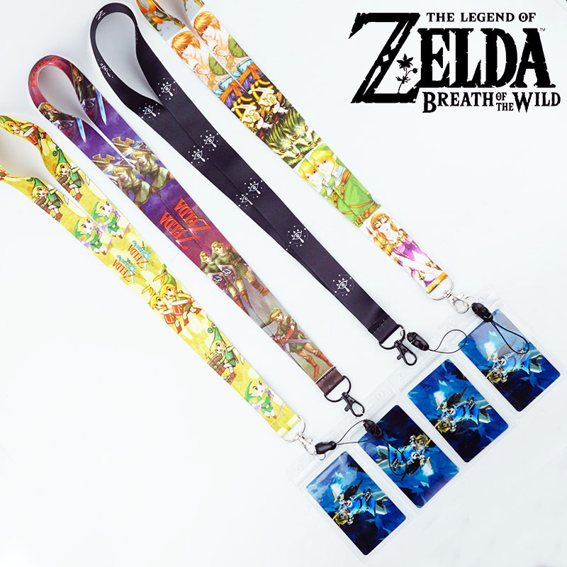 URORU The Legend of Zelda Link Strap Lanyards for keys ID Card Gym Mobile Phone Strap USB Badge Holder Rope Cute Key Chain Gift