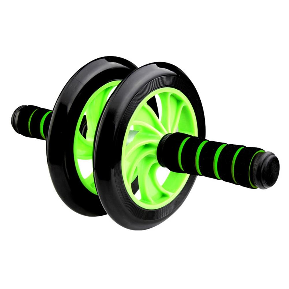 LumiParty Smooth Rolling Non- Slip Handles Extra Stability Abdominal Wheel Roller with Dual Wheels Fitness Equipment