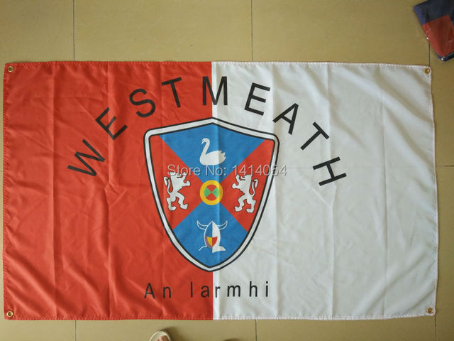 Кантри вестмеатский флаг, графство ирландского состояния 150X90 см баннер 100D Polyester3x5 FT Флаг латунные люверсы 001, бесплатная доставка