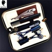 SMITH CHU Professional Hair Scissors Set 5 5 6 0 Inch Rainbow Straight Thinning Scissors Barber