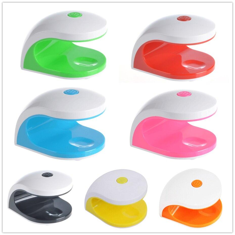 Elite99 2 W temporización secador de uñas mini LED UV lámpara para ...