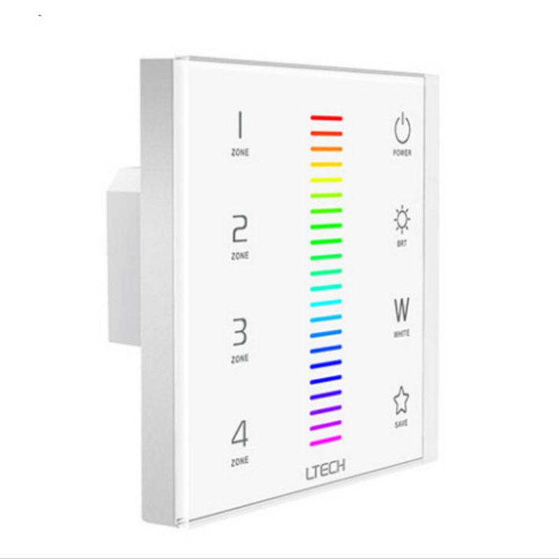 Lights & Lighting Ltech Wall Mount Led Rgbw Controller Ex8 Touch Panel Rgb Rgbw Strip Controller Ac100~240v 2.4g Rf Dmx512 F8 Remote F4-5a/f4-3a Structural Disabilities