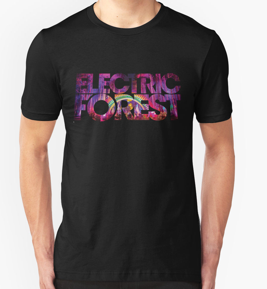 Custom Design T Shirts Electric Forest T Shirt Festival Music Rothbury Electronic Jam Band casual Fitness Clothing Tee shirt