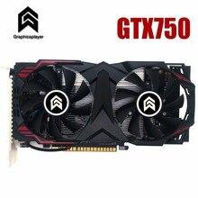 Графическая карта PCI-E 16X GTX750 GPU 2G DDR5 для nVIDIA Geforce оригинальный чип компьютер PC видеокарты