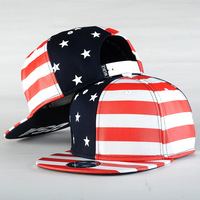 Spring Autumn American Flag Embroidery Hip Hop Hats For Men Women Fitted Hats Street Casual Fashion