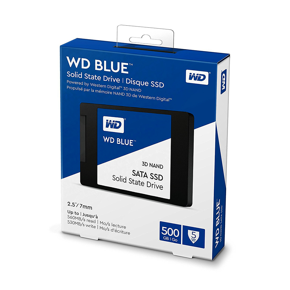 Western Digital WD Blue SSD 500gb interne Solid State Disque 500 GB - SATA 6 Gbit/s 2.5