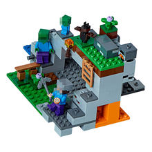 Legoing Minecrafted the Zombie Cave Block Set Compatible with Creative Building Toy(China)