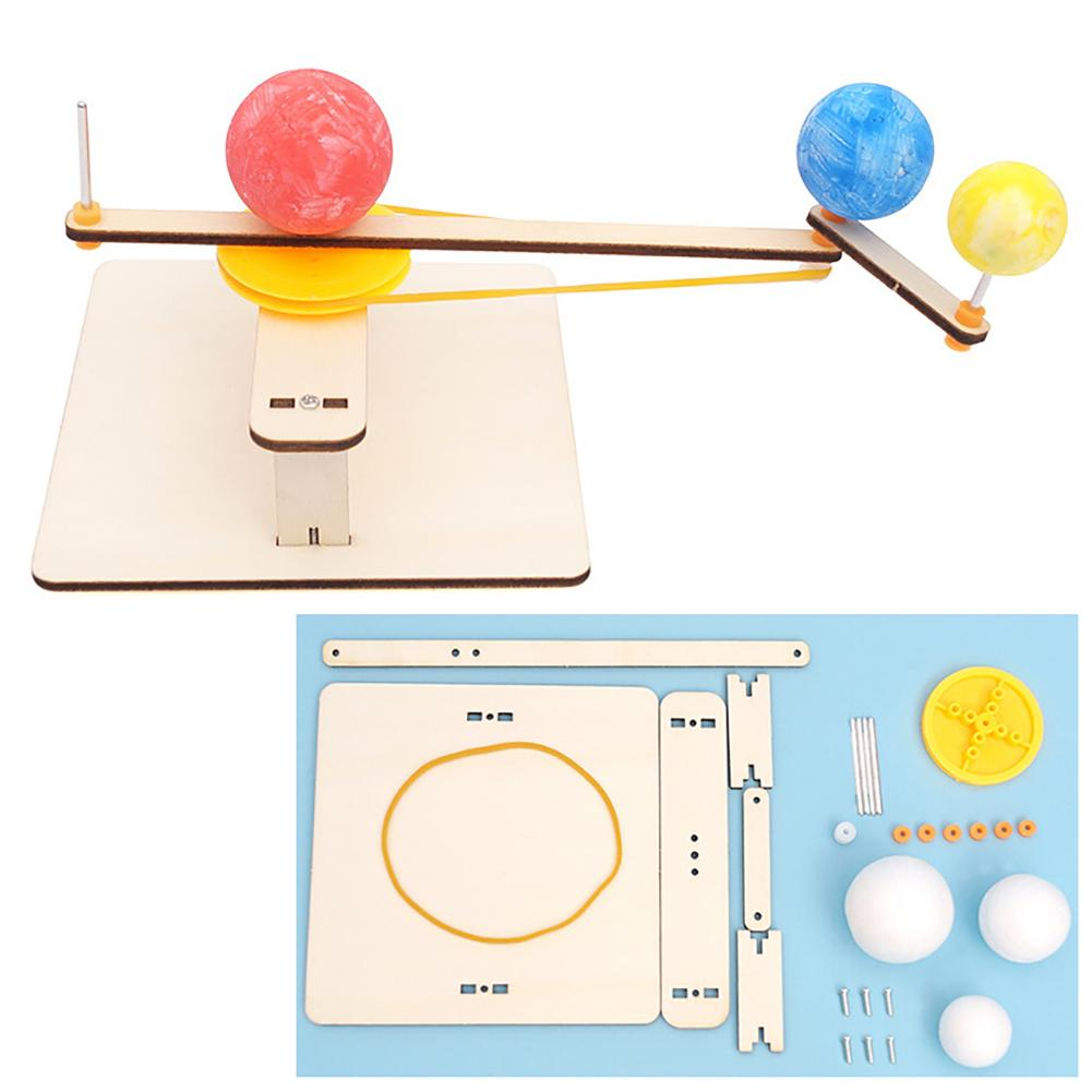 DIY Earth Moon Sun Orbital Planetarium Geography Experiment Education Kids Toy Puzzle Assembled Toys Physics Teaching Resources
