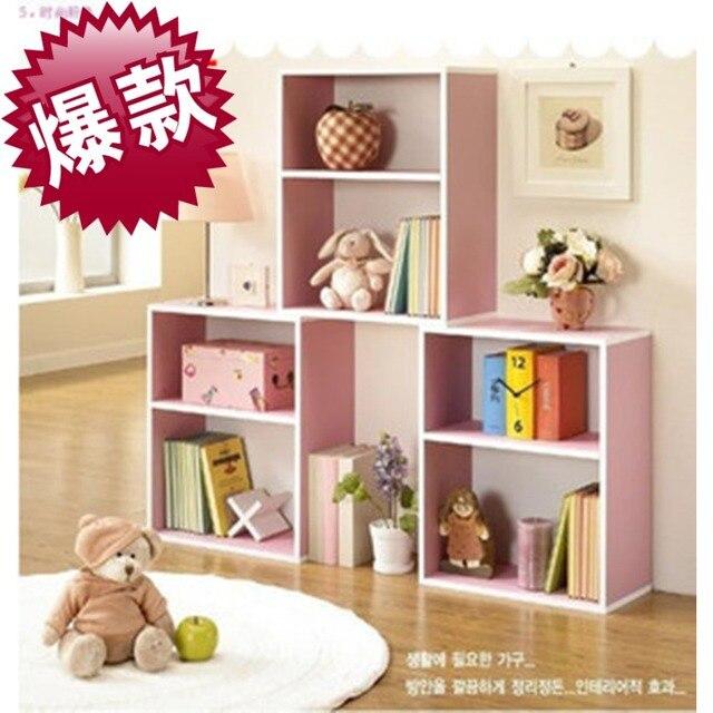 Bookcase Simple Bookshelf Child Toy Storage Cabinet FurnitureA Combination Of