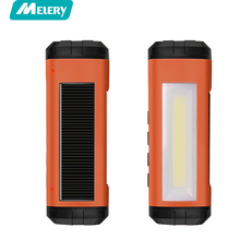 Melery Solar Bluetooth Speaker Outside Wireless LED Flashlight Portable Player Support FM Radio TF Card Solar Energy Charger