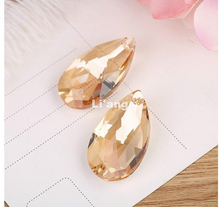 Free Shipping 20piece/lot 38mm Champagne Crystal Facted Droplet DIY Window Curtain Pendant/Chandelier,Lighting Accessories Parts