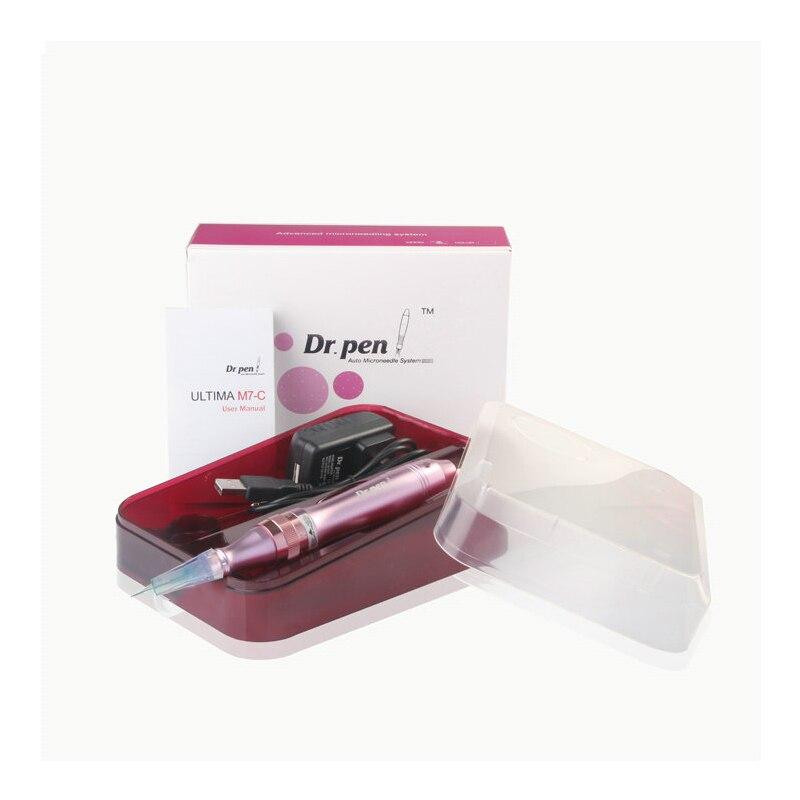 Dr. stylo feutre dermatologique Baïonnette port Cartouche Aiguille (Y Compris 2 pièces x 12pin aiguilles) Machine électrique Micro Rolling derma stamp Thérapie