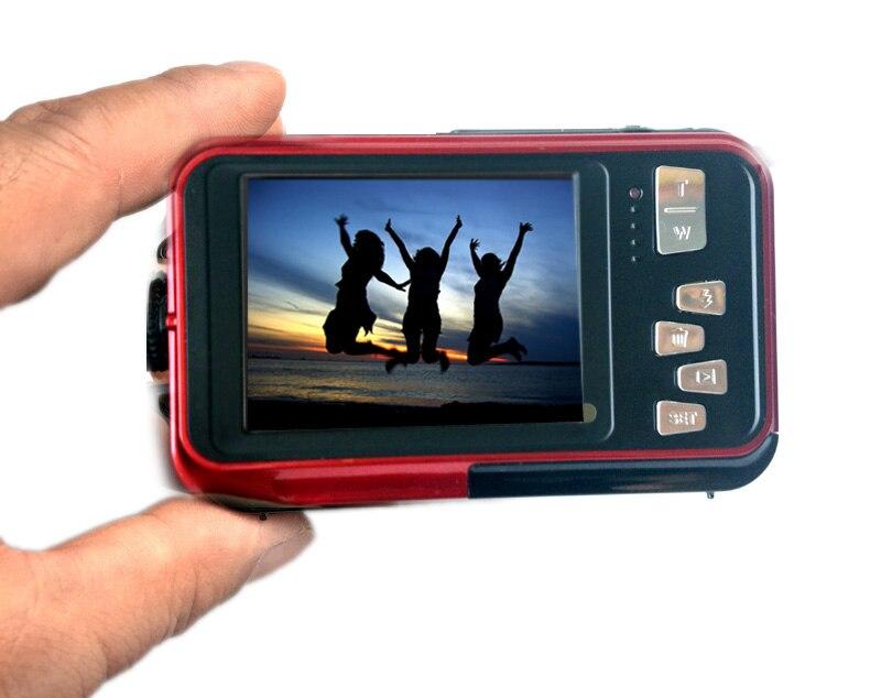HTB1UYYEh7yWBuNjy0Fpq6yssXXaZ Waterproof Digital Camera Dual Screens (Back 2.7 inch + Front 1.8 inch) HD 1080P 16x Zoom Camcorder Cam  DC998