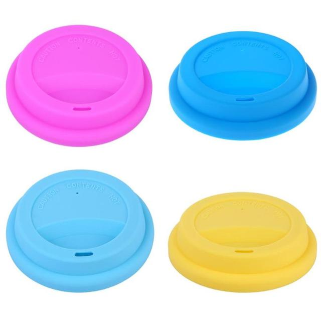 Thick Silicone Cup Lid Reusable Anti-dust Leakproof Silicone Lids for Coffee Tea Cup Cover Insulation Cup Seal Cover Accessories
