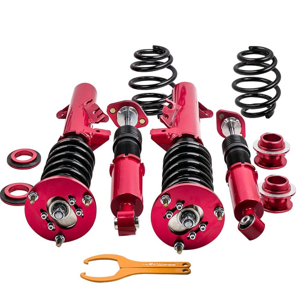 4 pces kit de suspensão de choque coilover completo adj. Altura Para BMW E36 M3 2494cc 3 Series 316 318 323 325 328 1991-1998