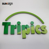 3d Shop front advertising name uv printing stainless steel letter sign