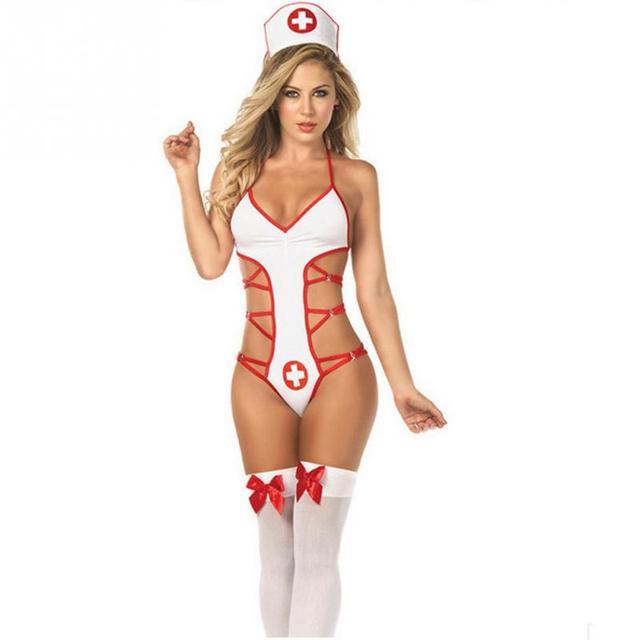 22a762568 100% high quality. White Super Sexy Nurses Uniform Temptation Sexy ...