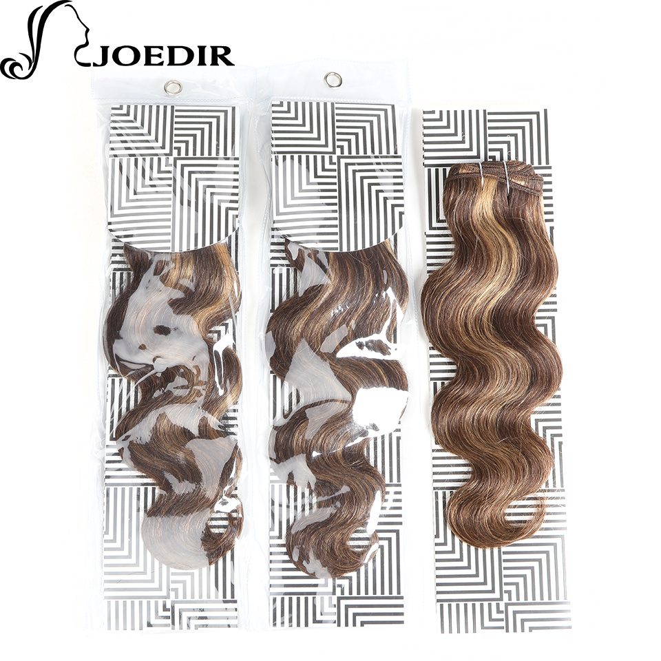 Human Hair Weaves Frugal Joedir Pre-colored Brown Blonde Human Hair Indian Body Wave Hair Weave Bundles Remy Hair Extensions 1 Bundle P427#