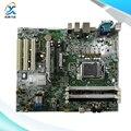 Para hp 8200 elite mt usado original desktop motherboard 611835-001 611796-002 para intel h57 socket lga 1155 ddr3 btx