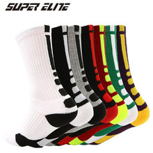 Basketball Socks (4 Pairs/lot) SUPER Elite/2004 Men Sports Cotton Outdoor Running Hiking socks