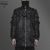 Aelfric Eden Autumn Winter Long Section Ma1 Air Force Flight Jacket Men S Motorcycle Jacket Coats