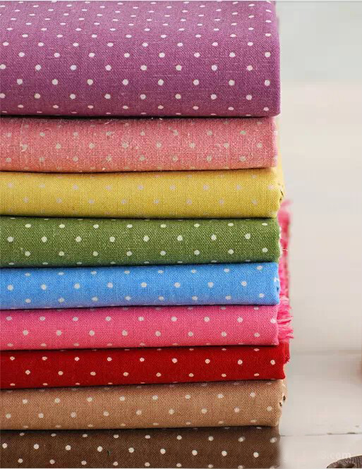 FABRIC DIY Patchwork cloth Printing Pattern table Natural Cotton Linen Fabric Quilting P ...