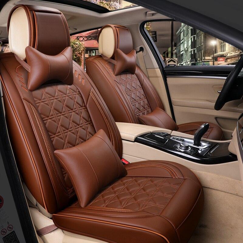 Автокресло Обложка авто чехлы сидений кожаные аксессуары для volkswagen vw passat b3 b5 b5.5 b6 b7 b8 cc 2009 2008 2007 2006
