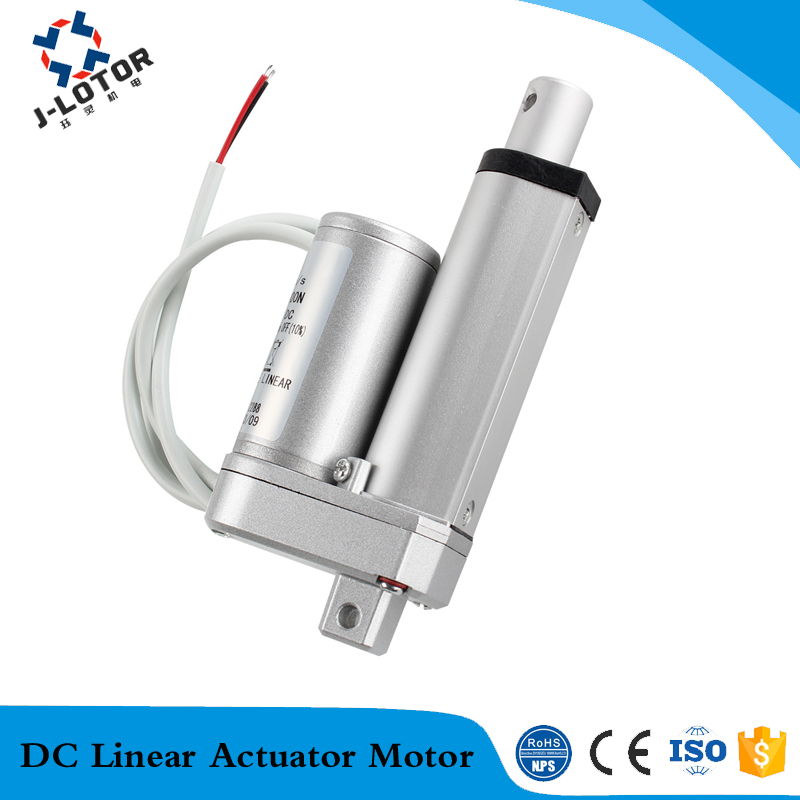 450mm linear actuator 24v dc ac electric linear drive for Ac dc electric motors