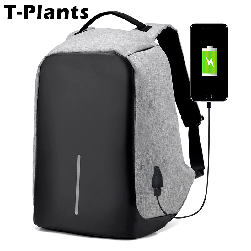 T-Plants Anti Theft USB Charge Travel Backpacks for Men Women College Teenage School Bags Multifunctional Business Laptop Bag t plants multifunctional men large capacity backpacks oxford laptop bag for 14 inch college backpacks comfort travel backpack