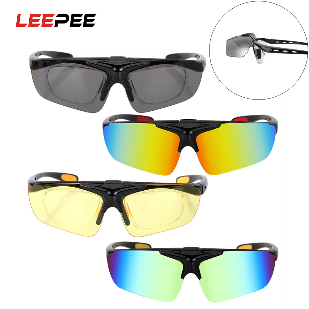 LEEPEE UV Protection Flip Cover Night Vision Drivers Goggles Motocross Bike Sunglasses Anti Glare Car Night-Vision Glasses
