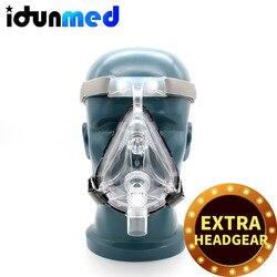 BMC CPAP Volgelaatsmasker Voor CPAP Machine APAP BPAP Met Verstelbare Kin Hoofddeksels Band Voor Slapen Apneu Anti Snurken oplossing
