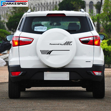 цена на 1pcs 50cm Racing Lattices Graphic Vinyl Decal Car Spare Tire Cover Decor Sticker For Ford Ecosport