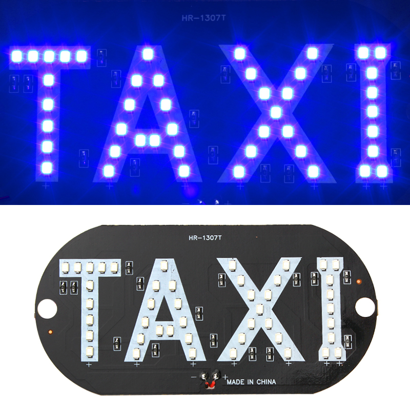 Hot Sale Newest Taxi led Car Windscreen Cab indicator lamp Sign Blue LED Windshield Taxi Light Lamp 12V izztoss yellow taxi cab roof top sign light lamp magnetic large size car vehicle indicator lights