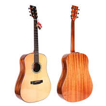 Finlay 41 Full Solid Acoustic Guitar,With Spruce Top/Solid Mahogany Body,guitars china With hard case,gloss guitar
