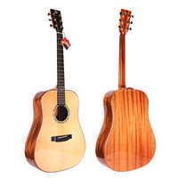 Finlay 41 Full Solid Acoustic Guitar,With Solid Spruce Top/Solid Mahogany Body,guitars china With hard case,gloss guitar