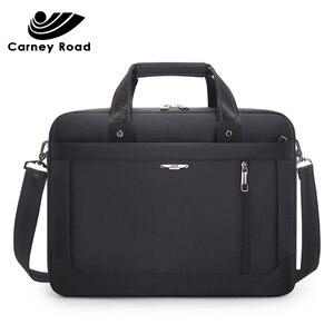 Image 1 - Carneyroad 비즈니스 남성 서류 가방 15.6 인치 노트북 가방 옥스포드 방수 남자 핸드백 캐주얼 메신저 가방 패션 2019